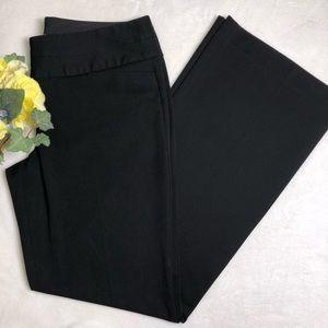 Express Editor Black Wide Leg Career Dress Pants